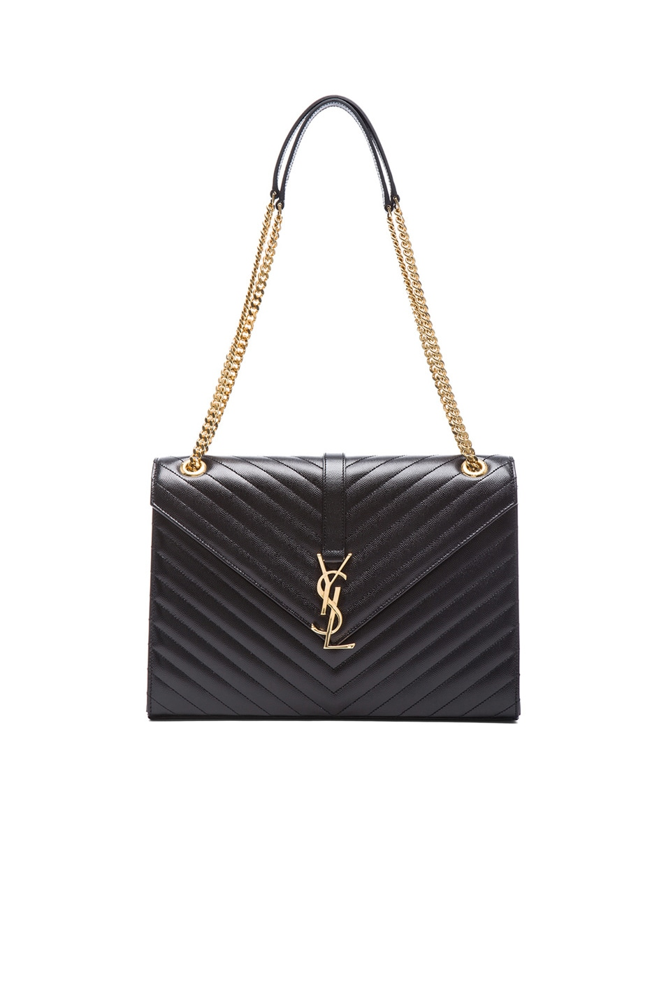 f19b014647 Image 1 of Saint Laurent Large Monogramme Envelope Chain Bag in Black