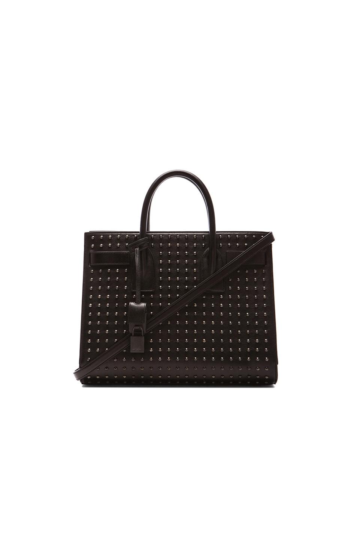 Image 1 of Saint Laurent Small Studded Sac De Jour Bag in Black