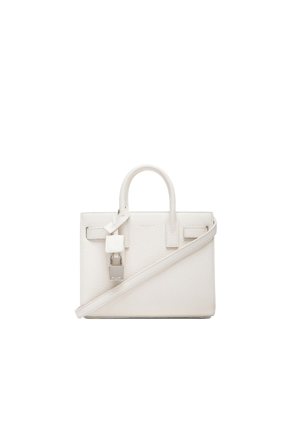 Image 1 of Saint Laurent Nano Sac De Jour Carryall Bag in White