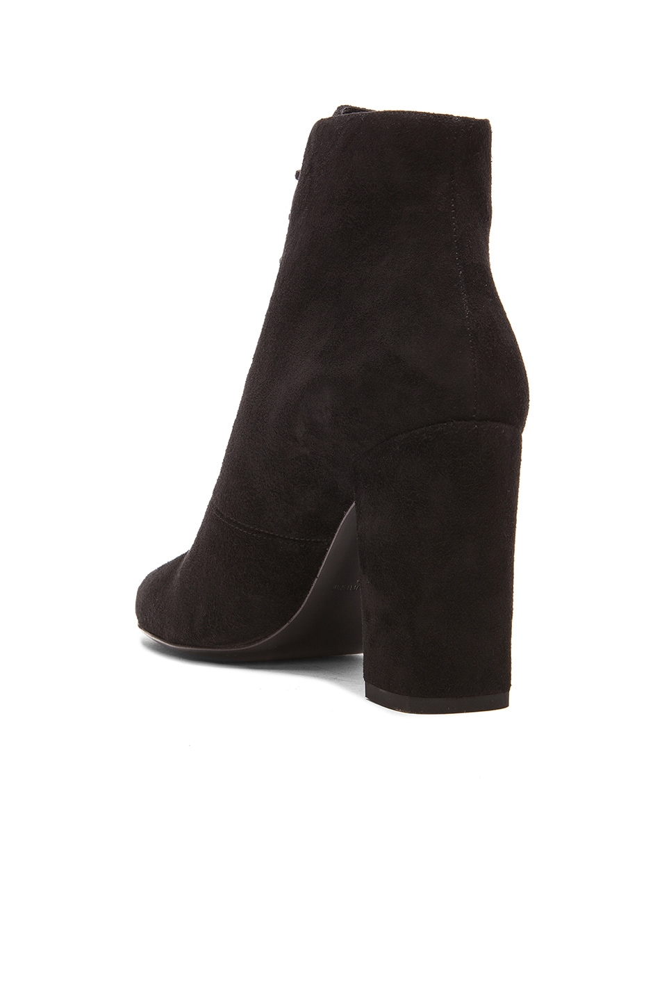 Image 3 of Saint Laurent Suede Lace Up Babies Boots in Black