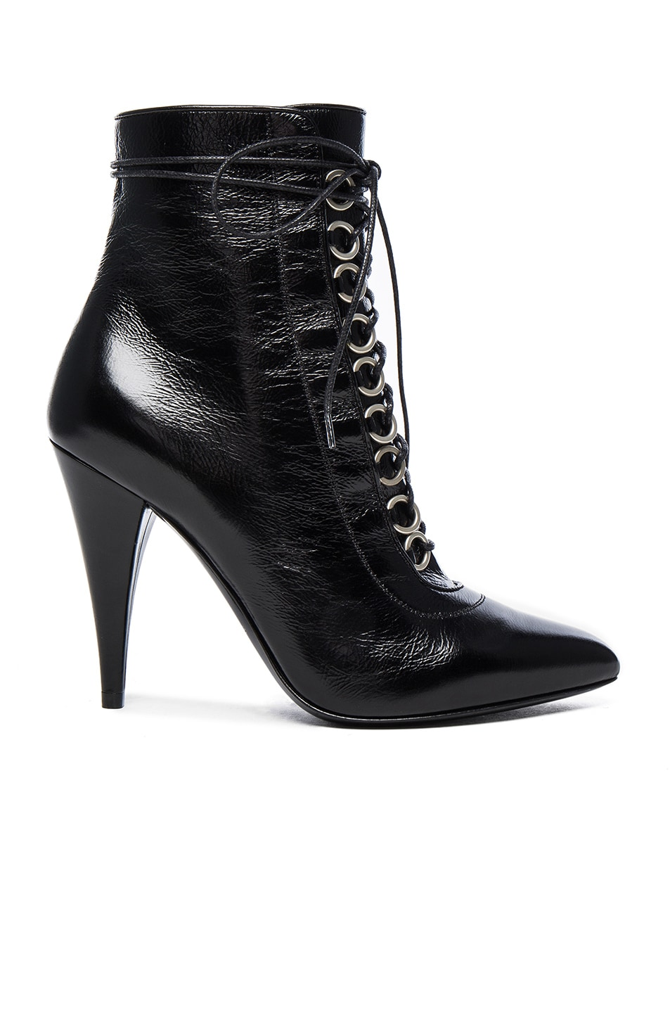Image 1 of Saint Laurent Fetish Leather Booties in Black