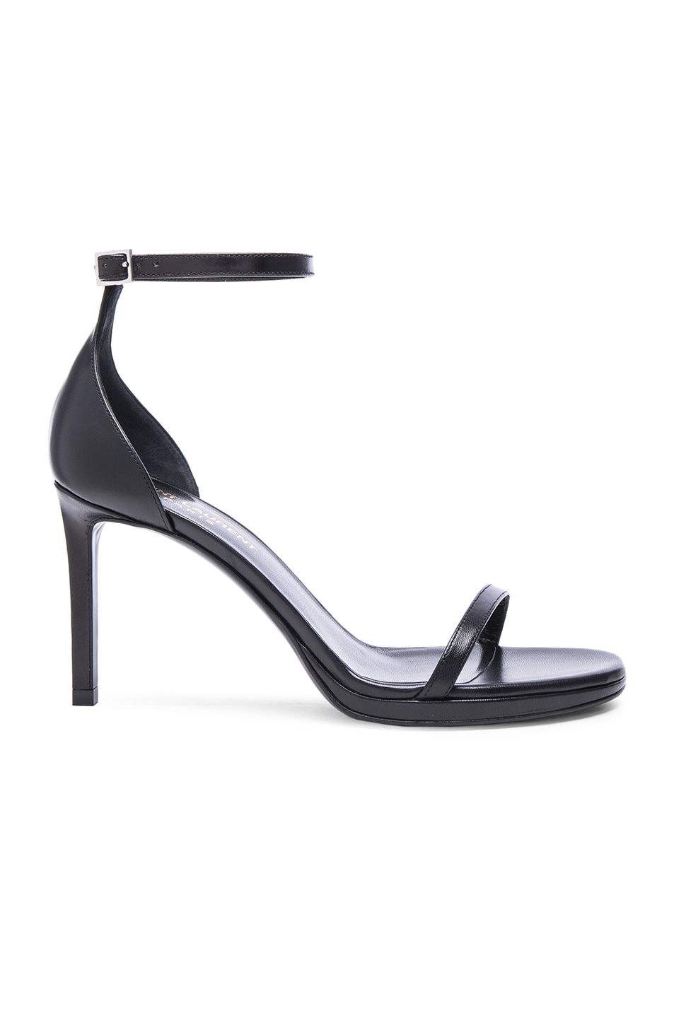 Image 1 of Saint Laurent Jane Leather Sandals in Black