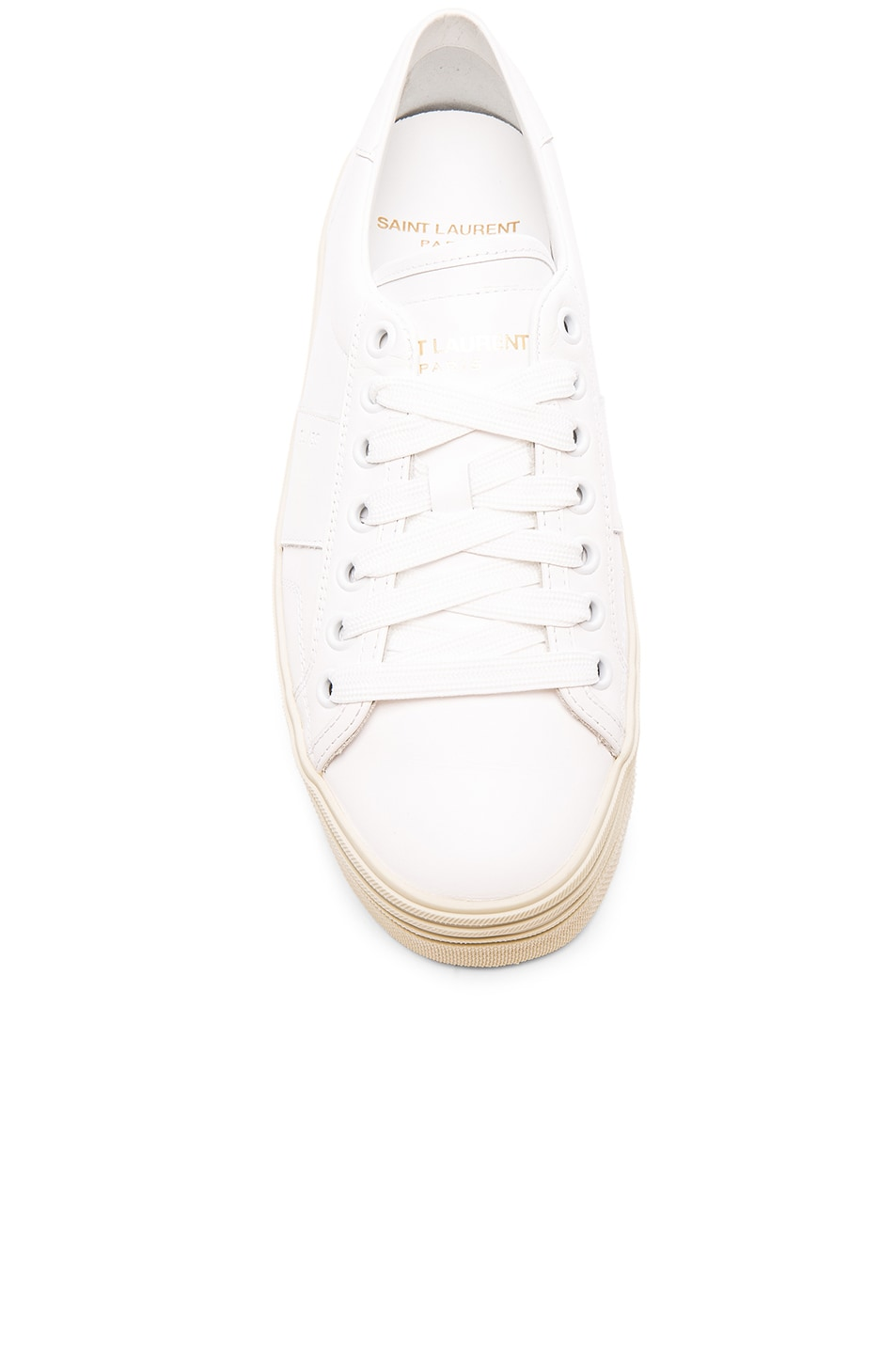 b096004d6922 Image 4 of Saint Laurent Leather Court Classic Platform Sneakers in Off  White