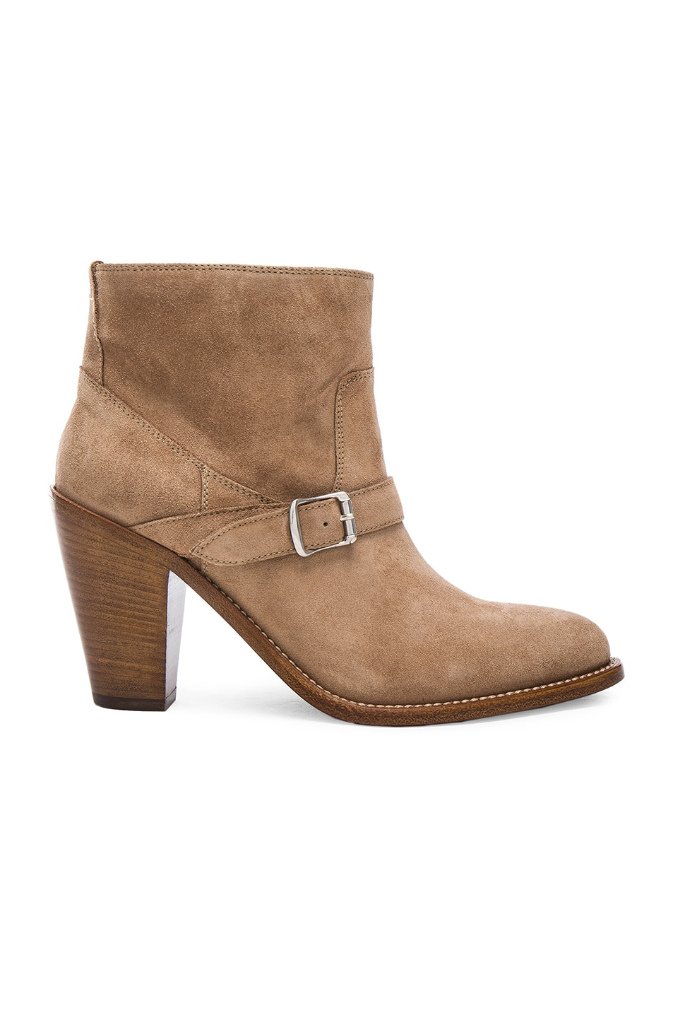 Image 1 of Saint Laurent New Western Bootie in Chamois