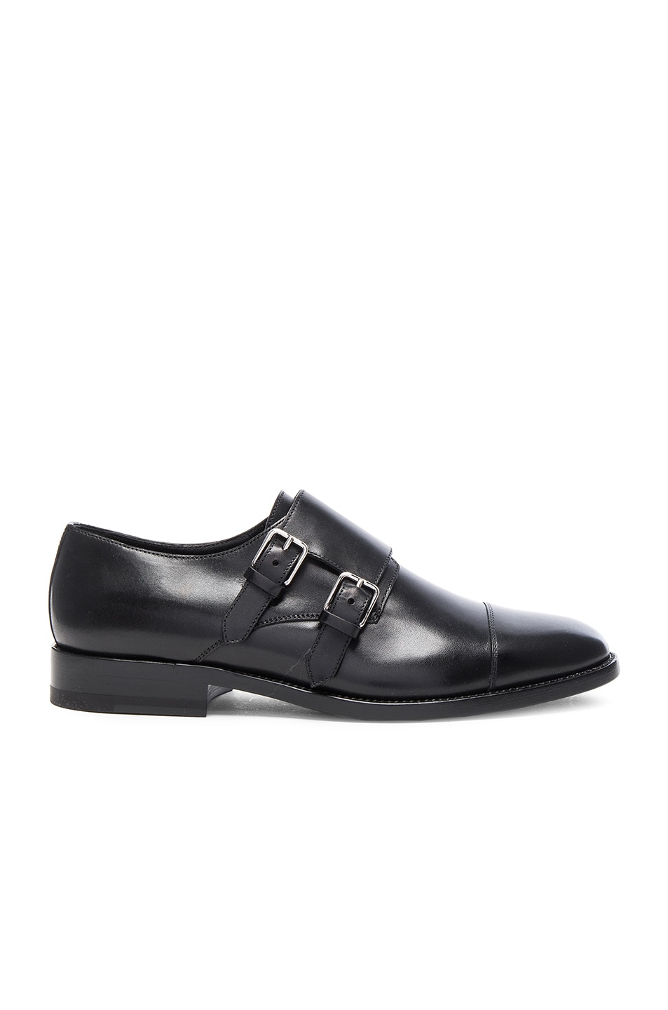 Image 1 of Saint Laurent Dylan Monk Shoes in Black