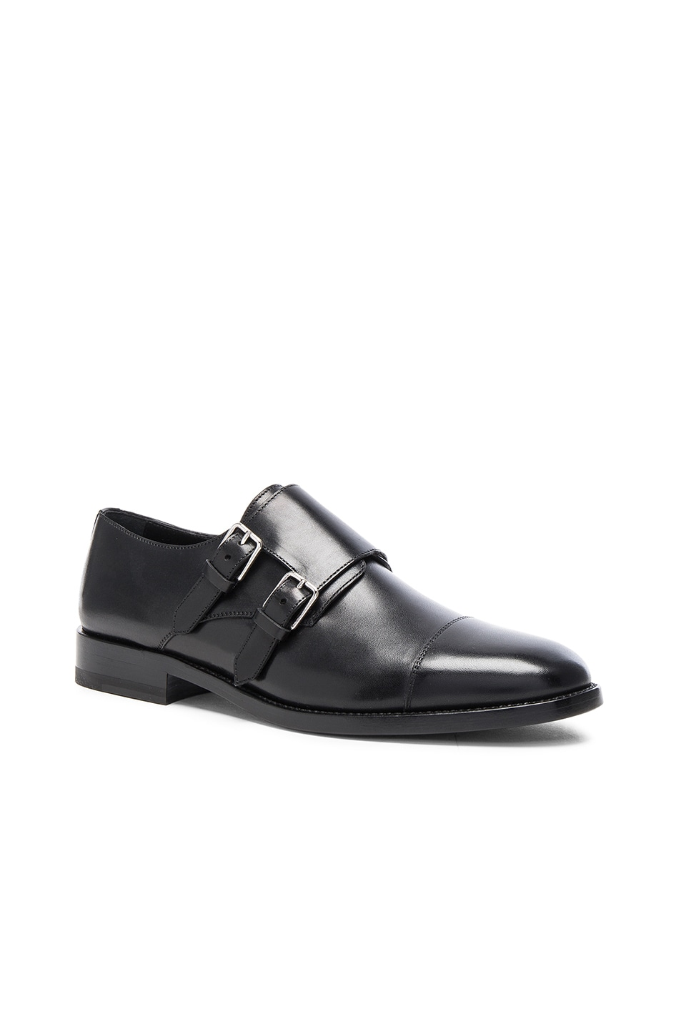 Image 2 of Saint Laurent Dylan Monk Shoes in Black