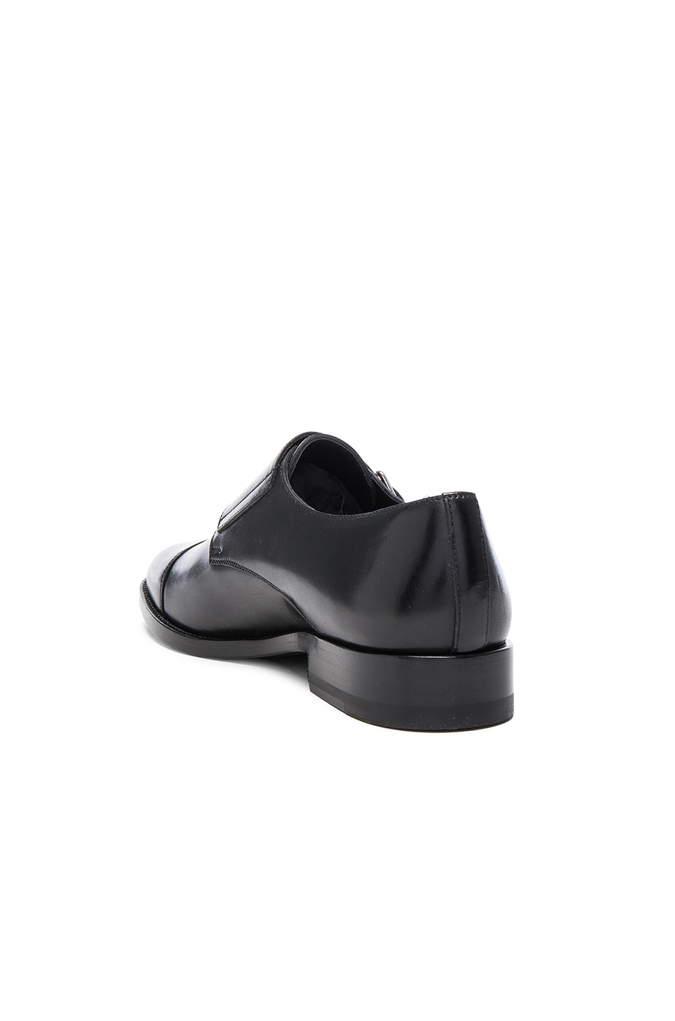 Image 3 of Saint Laurent Dylan Monk Shoes in Black
