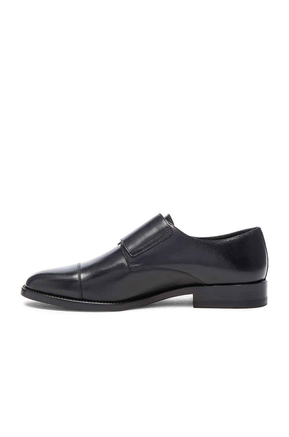 Image 5 of Saint Laurent Dylan Monk Shoes in Black