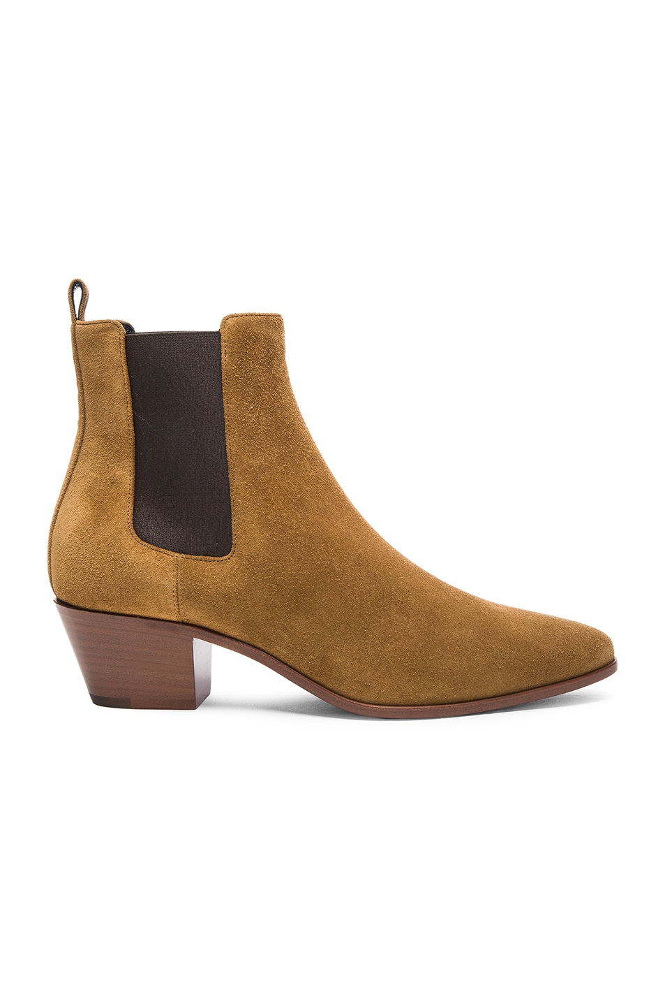 Image 1 of Saint Laurent Suede Rock Chelsea Boots in Tan 6a5834664