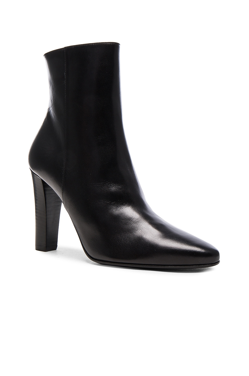 Image 2 of Saint Laurent Lily Zip Booties in Black