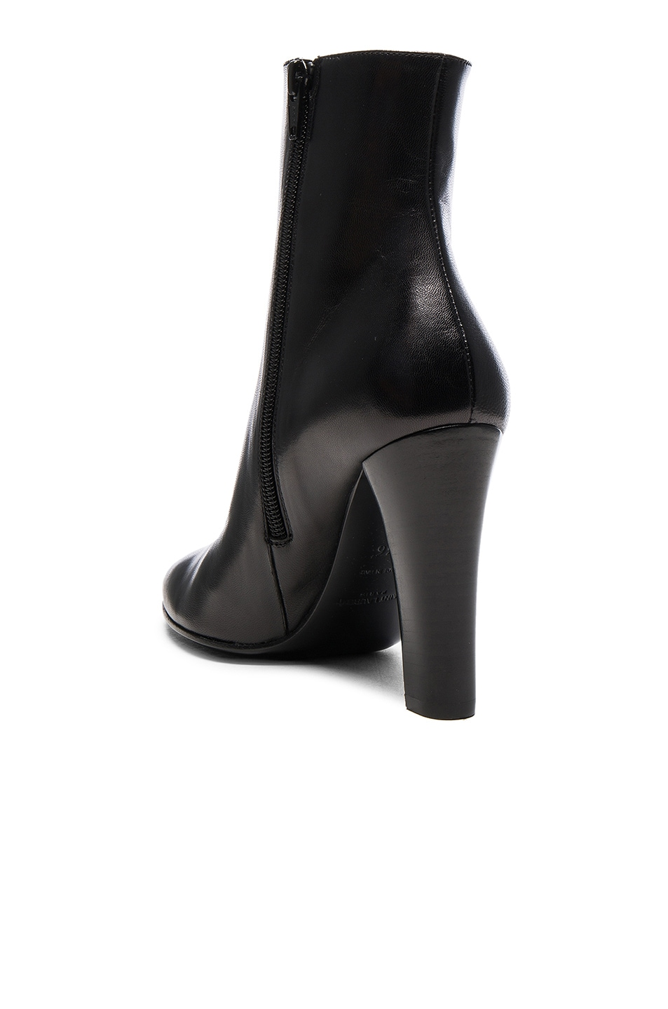 Image 3 of Saint Laurent Lily Zip Booties in Black