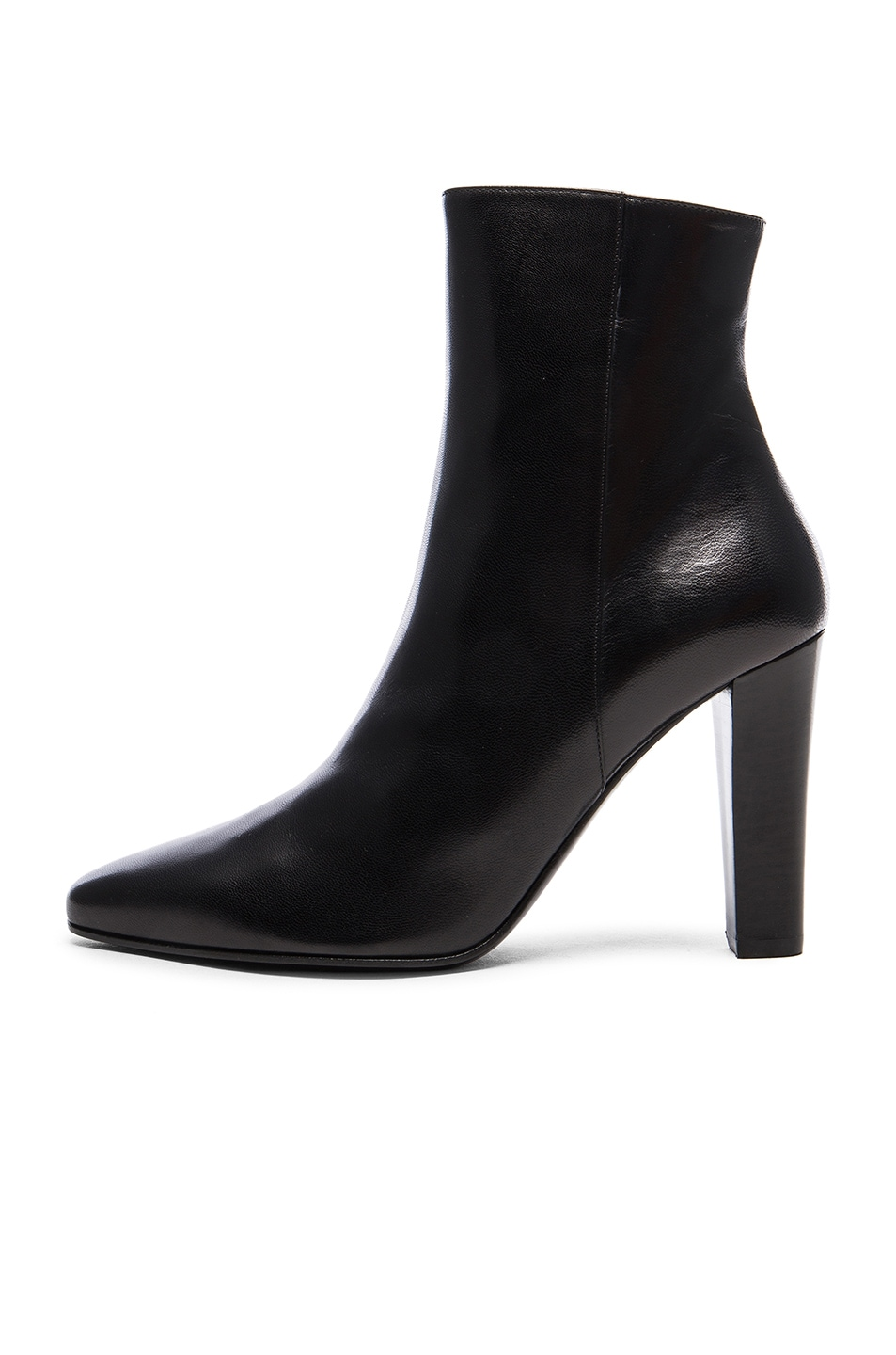 Image 5 of Saint Laurent Lily Zip Booties in Black
