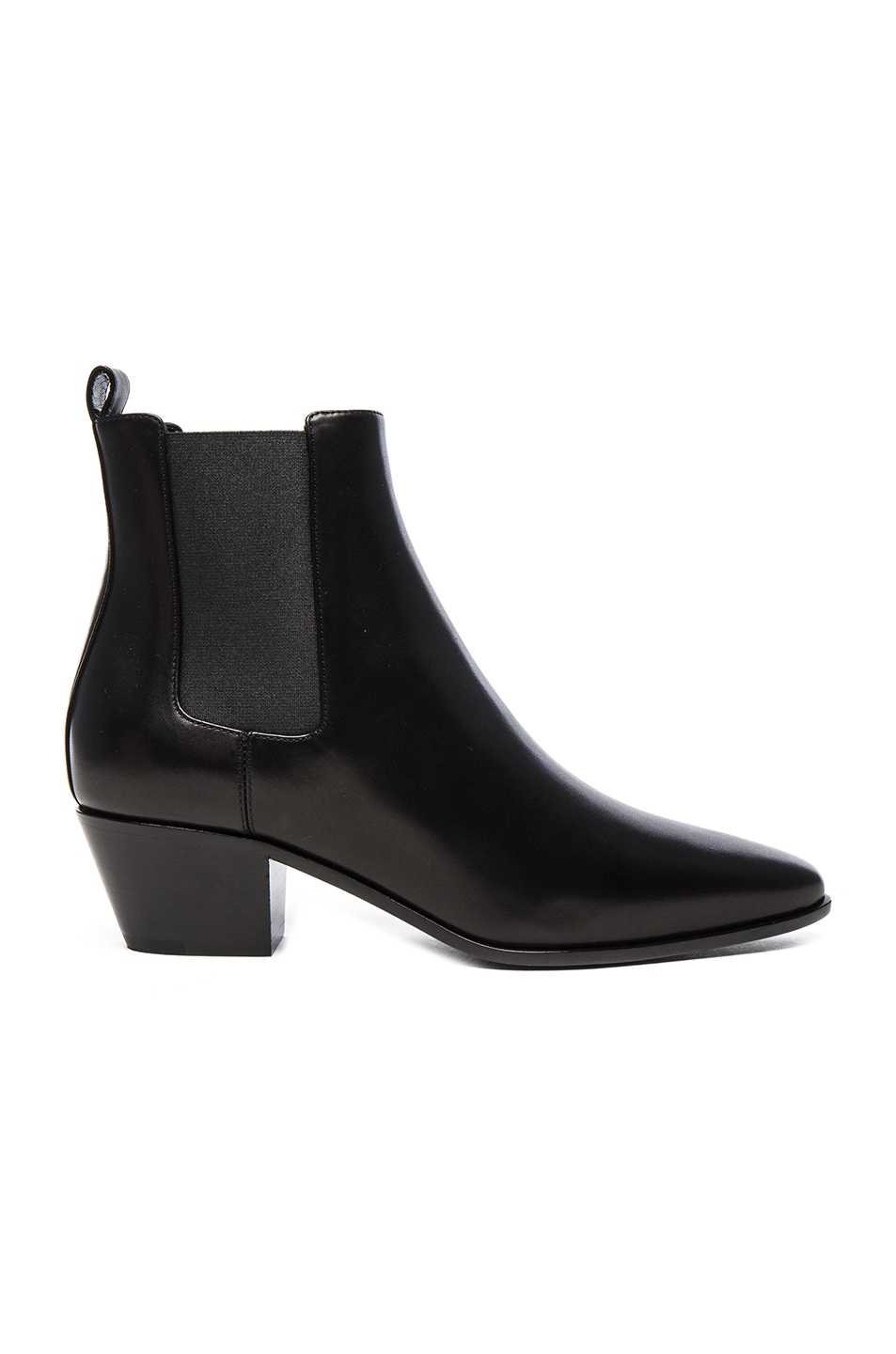 Image 1 of Saint Laurent Rock Leather Chelsea Boots in Black