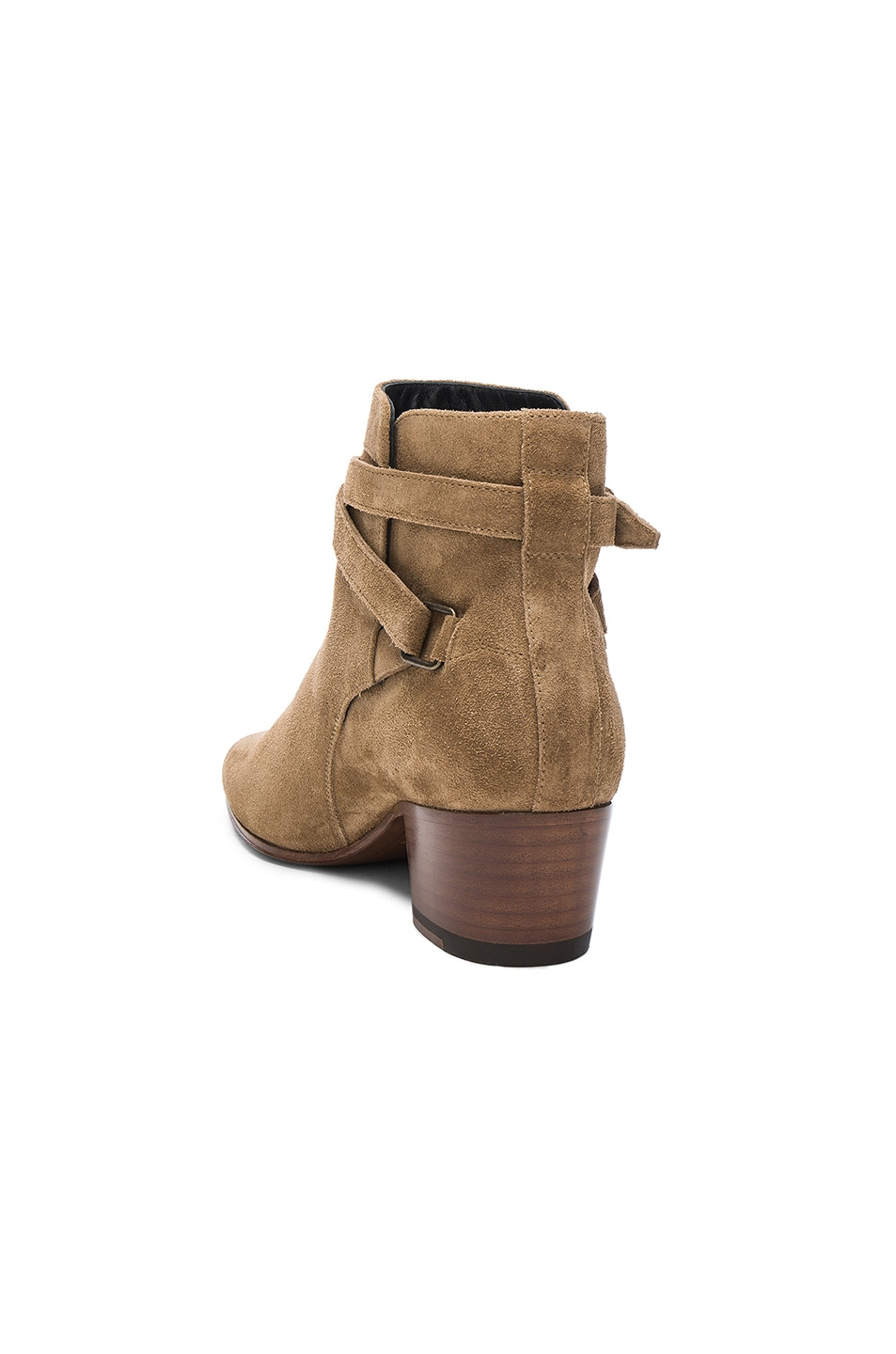 Image 3 of Saint Laurent Suede Blake Boots in Light Cigare