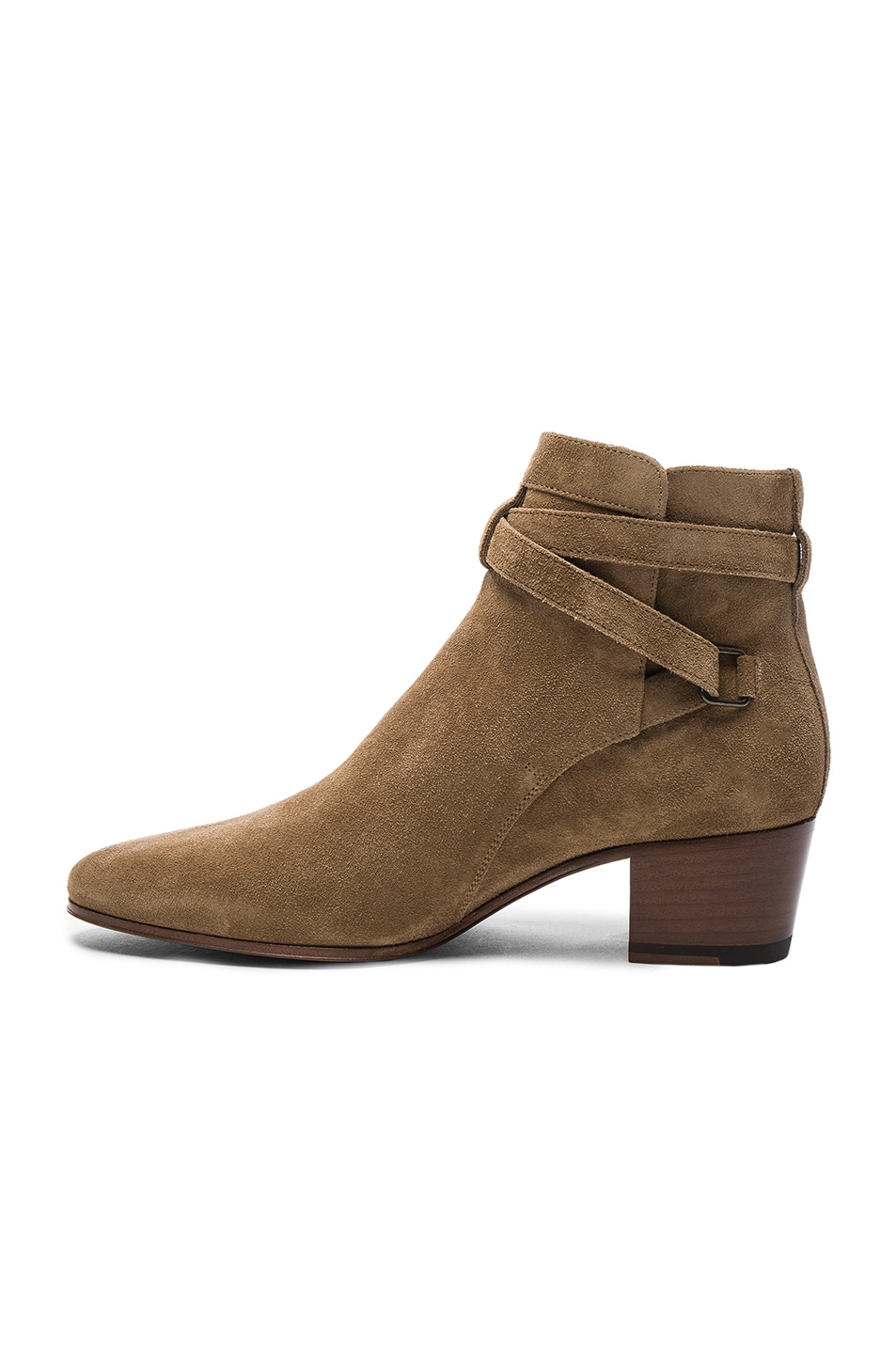 Image 5 of Saint Laurent Suede Blake Boots in Light Cigare