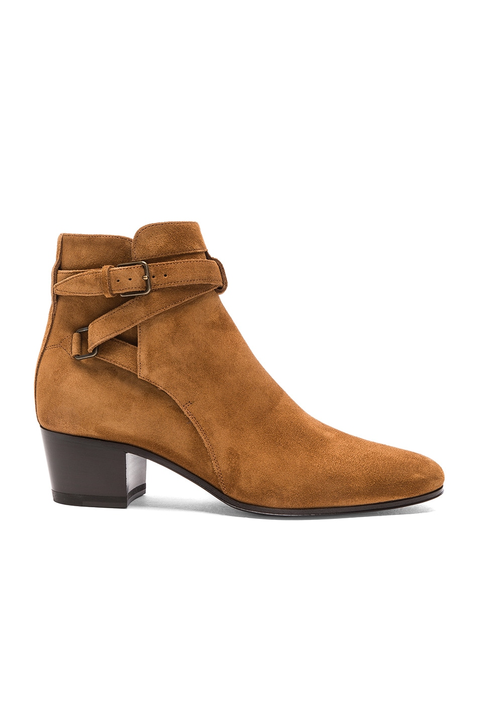 Image 1 of Saint Laurent Suede Blake Boots in Fox