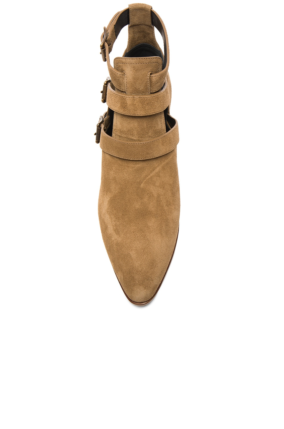 Image 4 of Saint Laurent Suede Rock Boots in Light Cigare