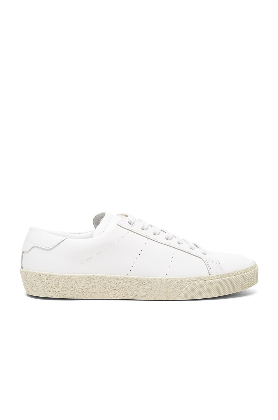 Image 1 of Saint Laurent Court Classic Leather Sneakers in Optic White