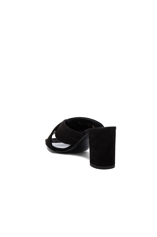 Image 3 of Saint Laurent Loulou Suede Mules in Black