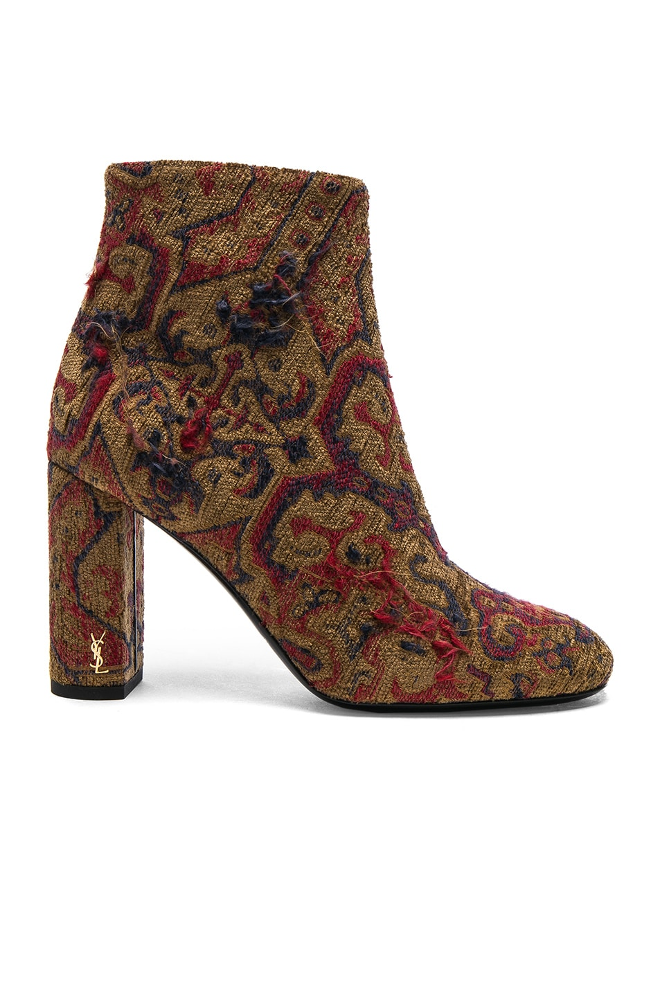 Image 1 of Saint Laurent Leather Loulou Boots in Saffron Red