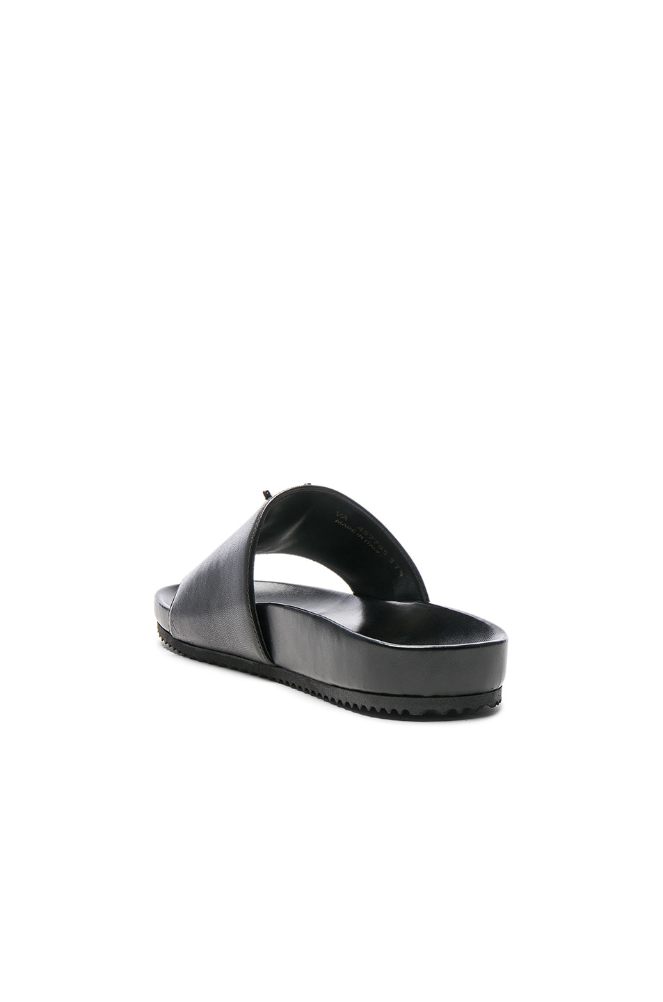 Image 3 of Saint Laurent Joan Leather Slides in Black