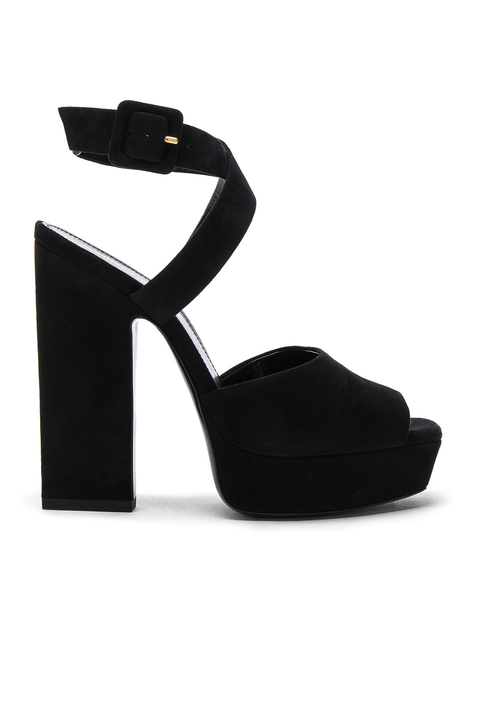 Debbie Suede Platform Sandals - Nero Size 9.5 in Black