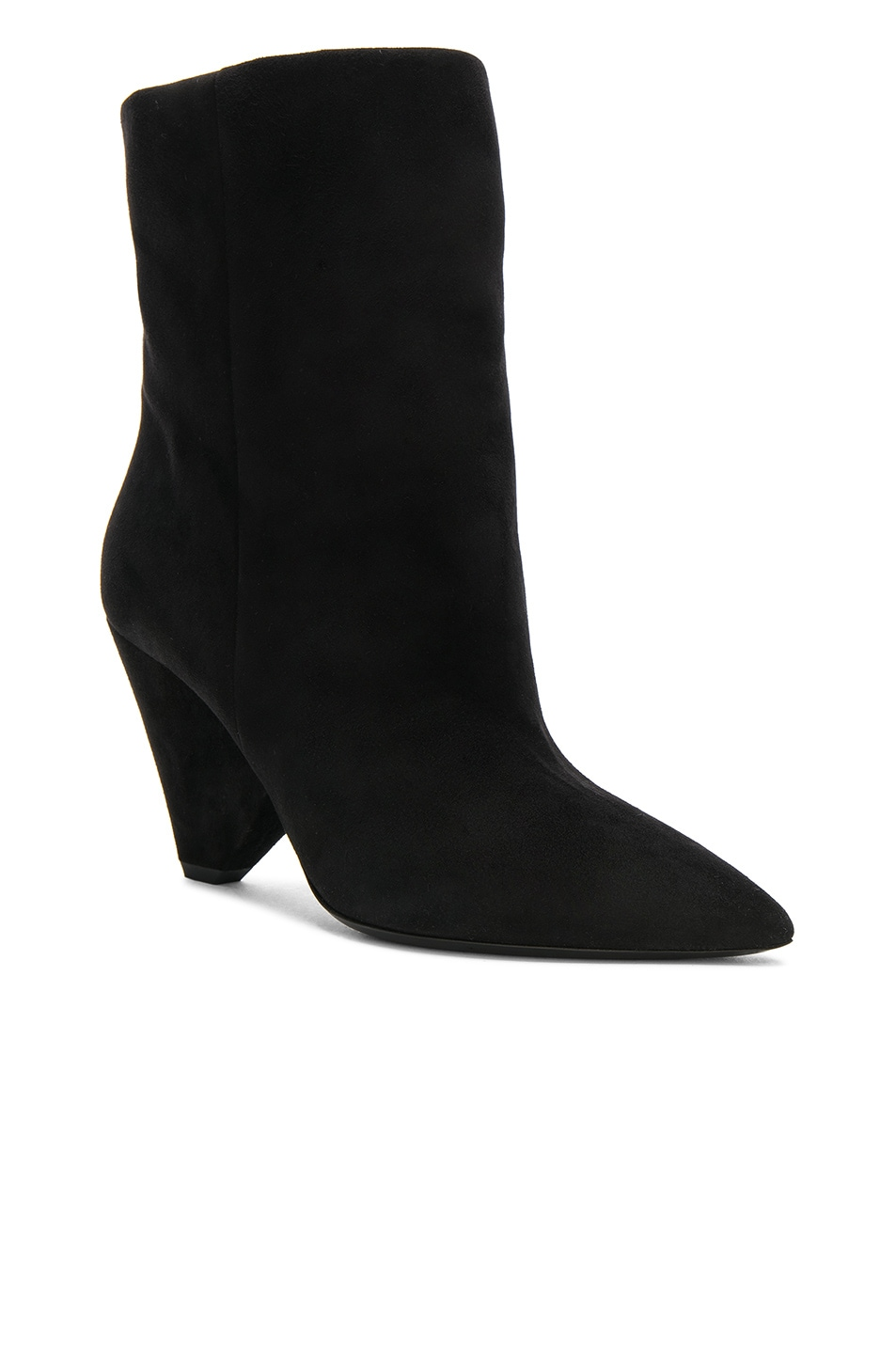 Image 2 of Saint Laurent Suede Niki Ankle Boots in Black