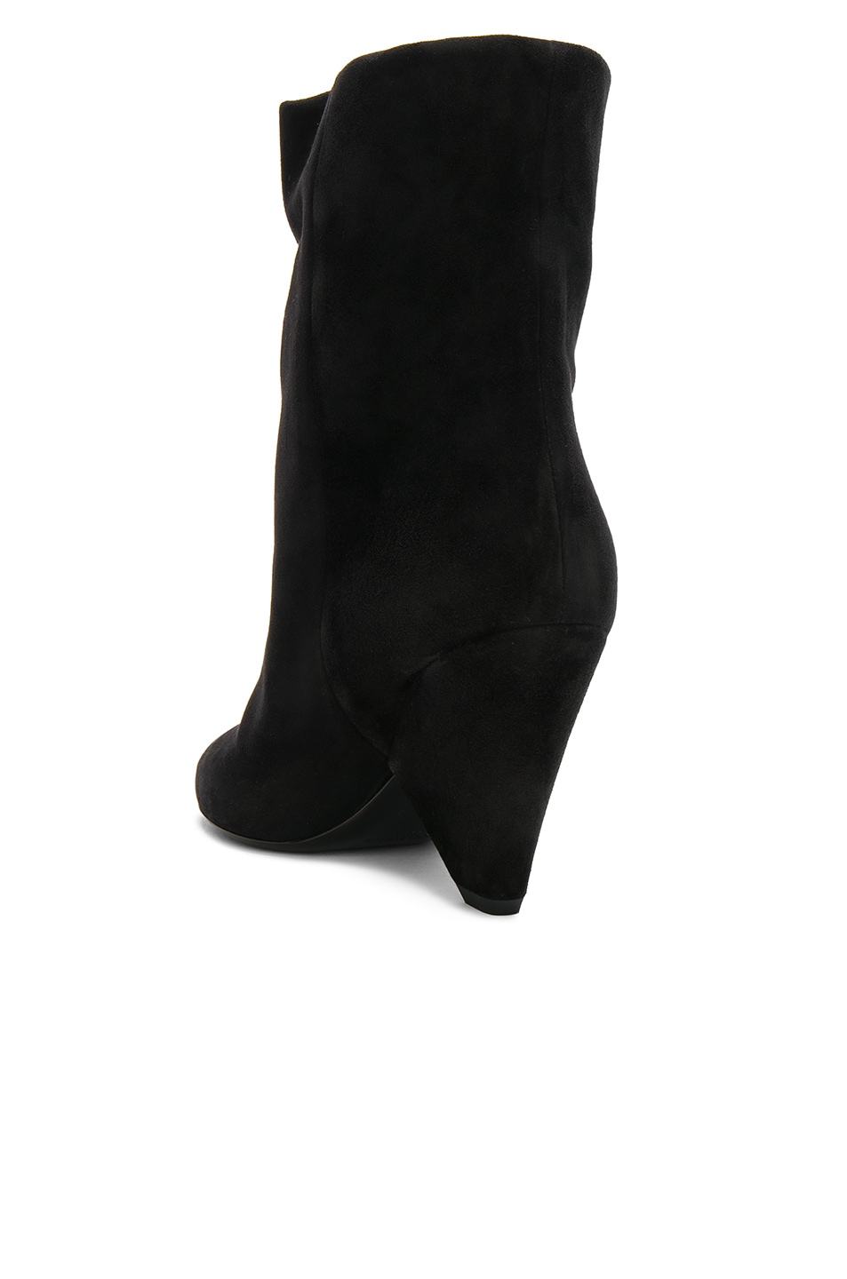 Image 3 of Saint Laurent Suede Niki Ankle Boots in Black