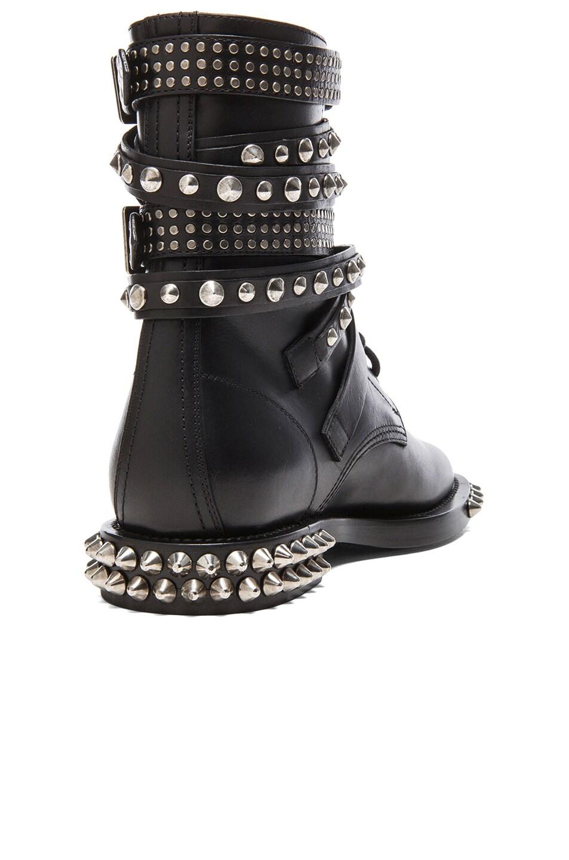 d297a08d102 Image 3 of Saint Laurent Rangers Double Studded Leather Combat Boots in  Black