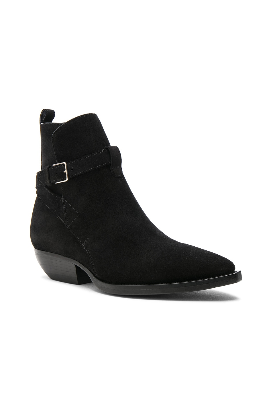 Saint Laurent Suede Theo Jodhpur Boots in .