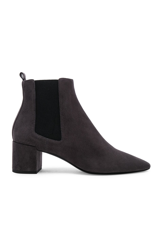 1b8645a0ef1 Image 1 of Saint Laurent Loulou Suede Chelsea Boots in Paris Fog