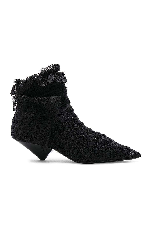 a5f6180d5f7 Image 1 of Saint Laurent Lace Blaze Ankle Boots in Black