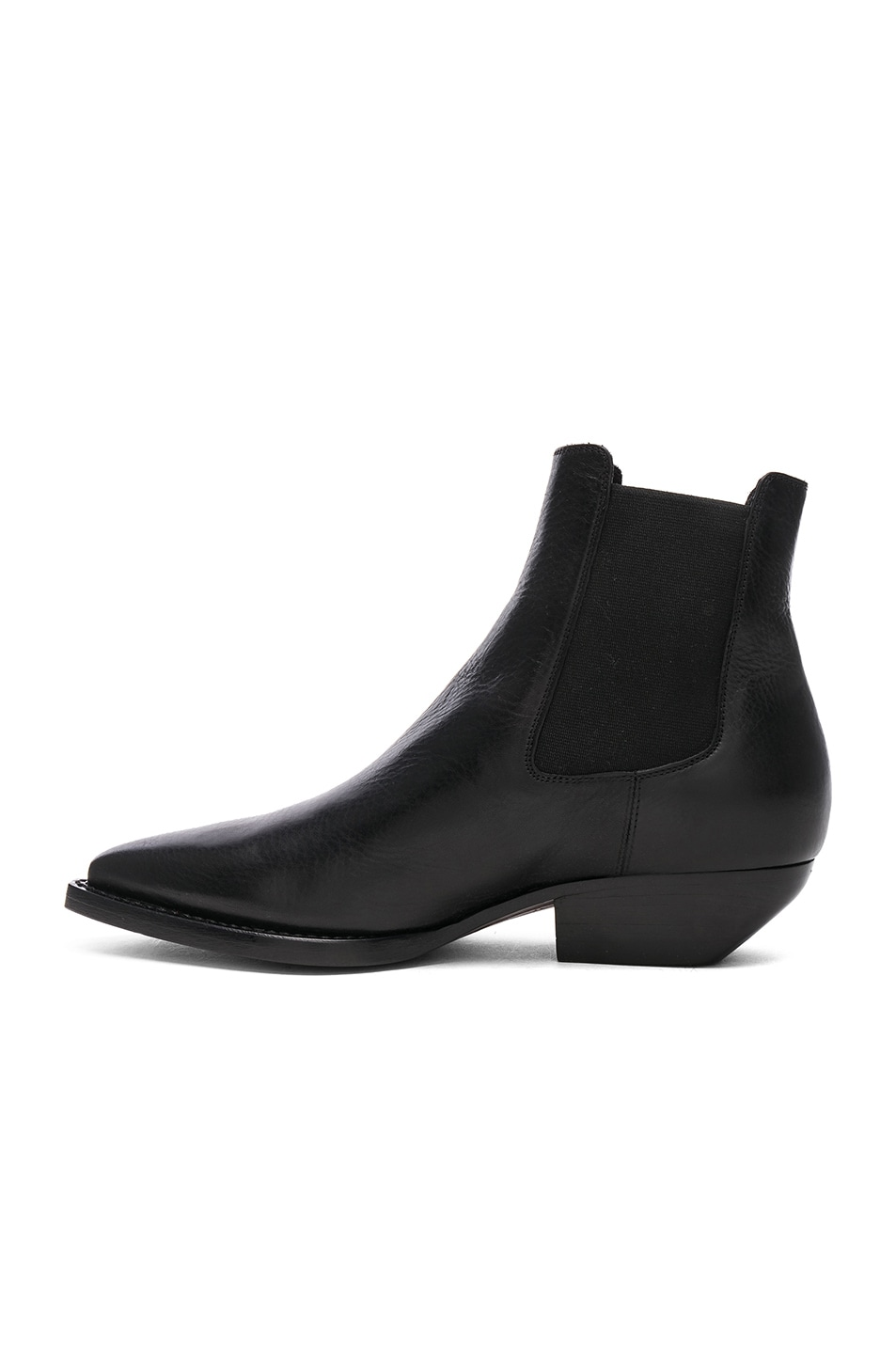 Image 5 of Saint Laurent Theo Leather Chelsea Boots in Black