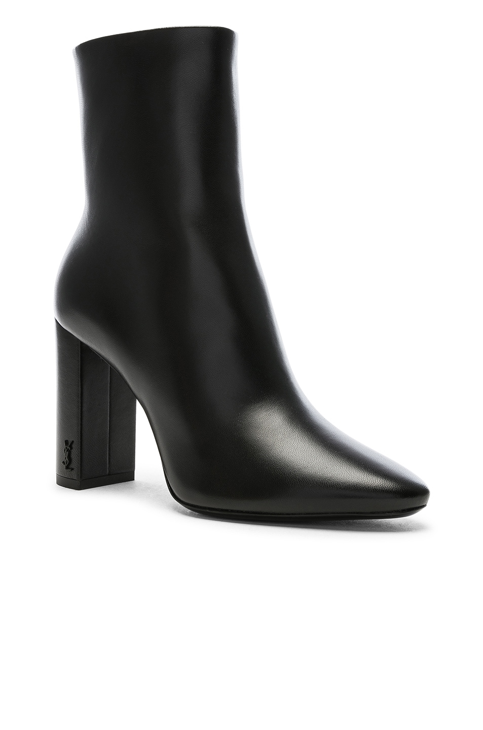 Image 2 of Saint Laurent Lou Pin Ankle Boots in Black