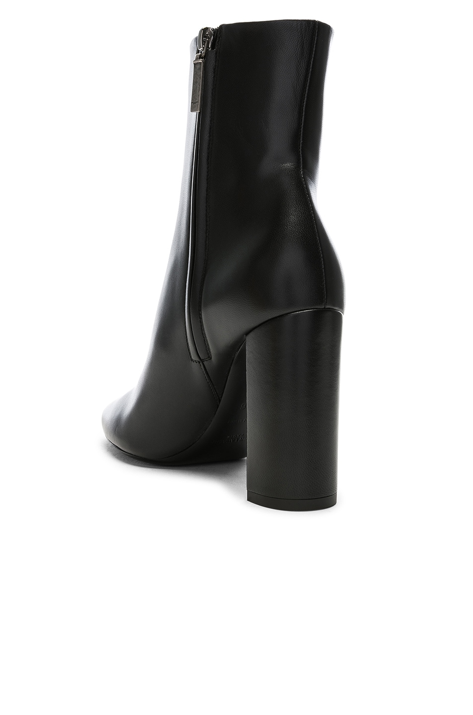 Image 3 of Saint Laurent Lou Pin Ankle Boots in Black