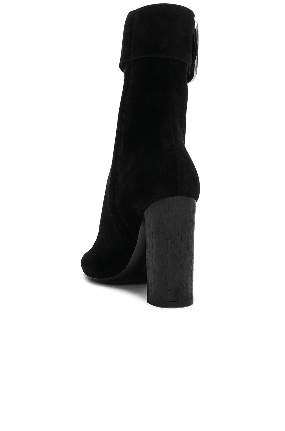 Image 3 of Saint Laurent Suede Joplin Buckle Boots in Black
