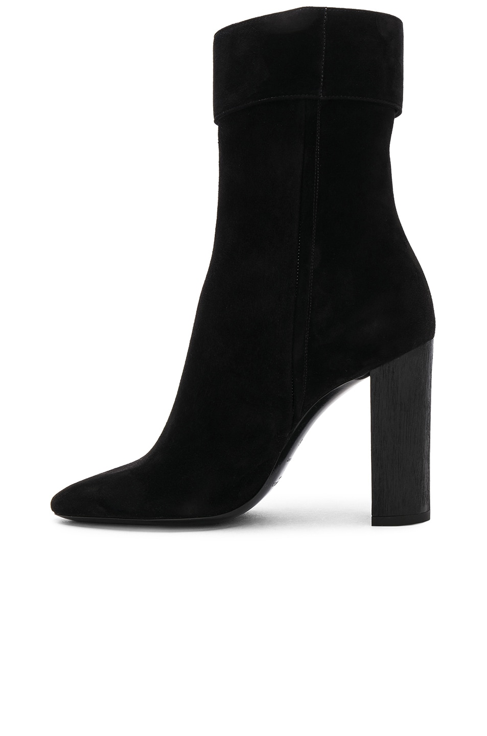 Image 5 of Saint Laurent Suede Joplin Buckle Boots in Black