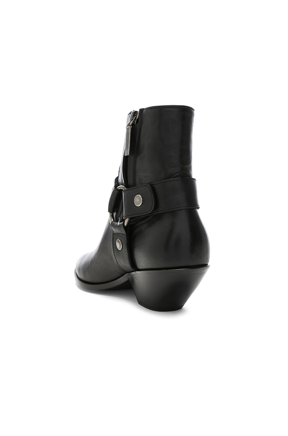 Image 3 of Saint Laurent West Strap Ankle Boots in Black