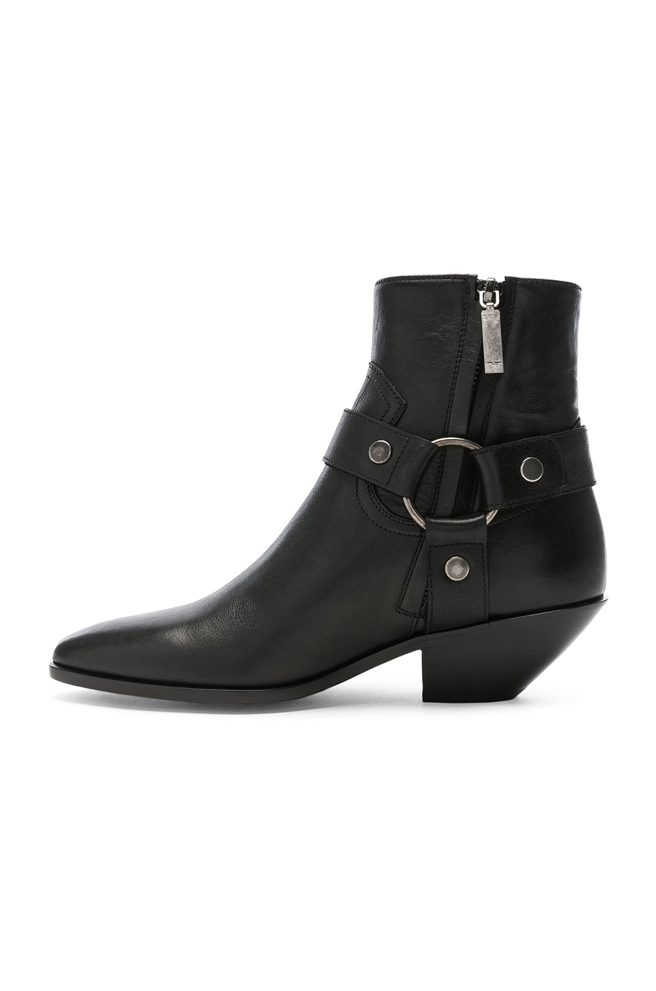 Image 5 of Saint Laurent West Strap Ankle Boots in Black