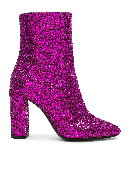 Saint Laurent Glitter Lou Ankle Boots
