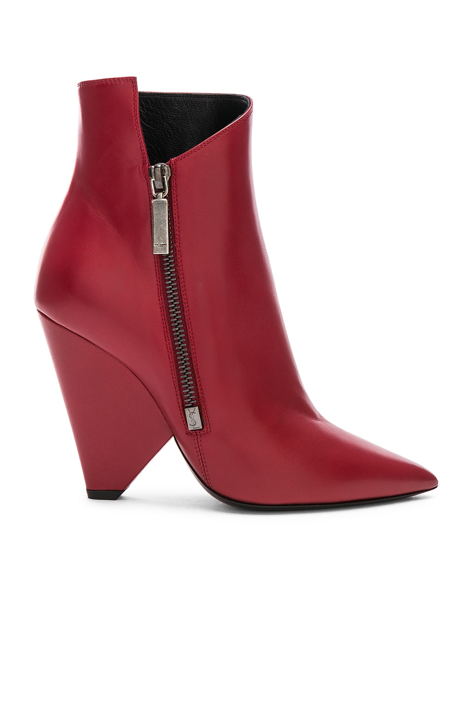 989688ed6df Saint Laurent Niki Ankle Boots in Hot Red | FWRD