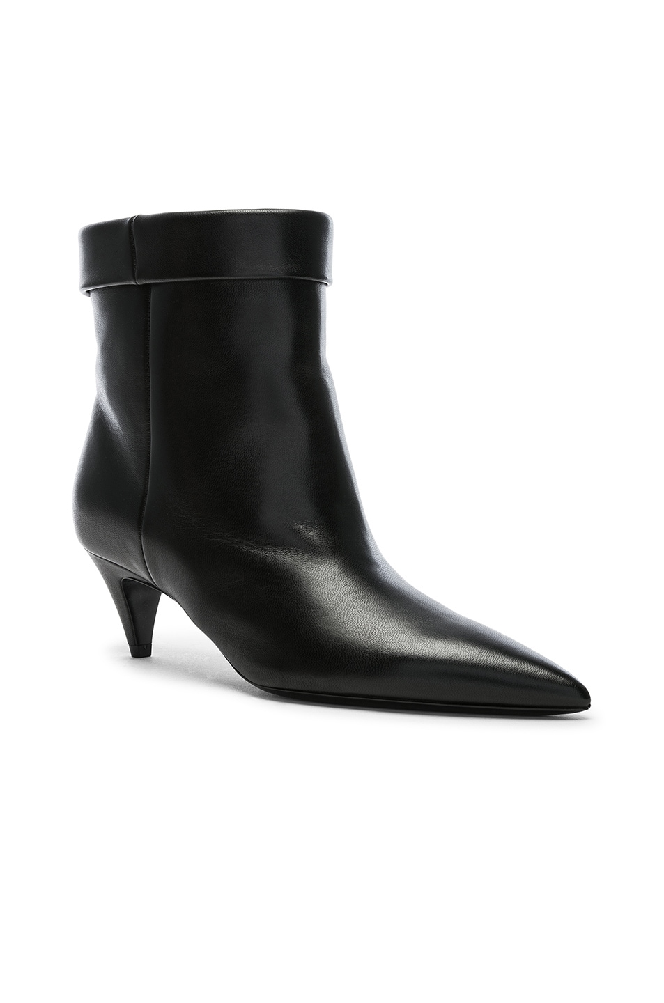 Image 2 of Saint Laurent Charlotte Kitten Heel Ankle Boots in Black