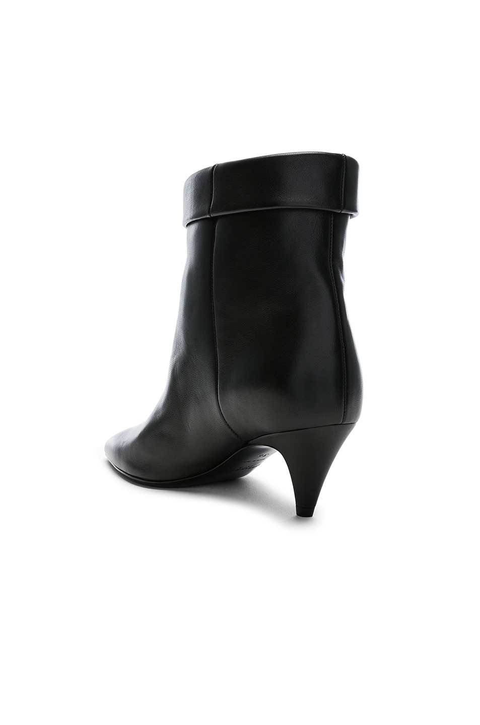 Image 3 of Saint Laurent Charlotte Kitten Heel Ankle Boots in Black