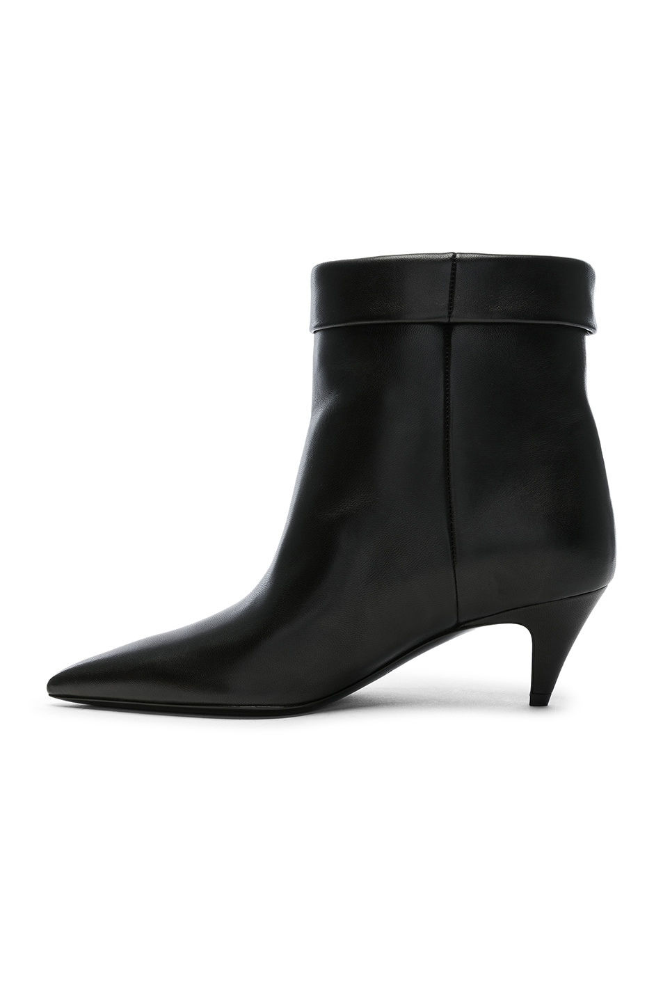 Image 5 of Saint Laurent Charlotte Kitten Heel Ankle Boots in Black
