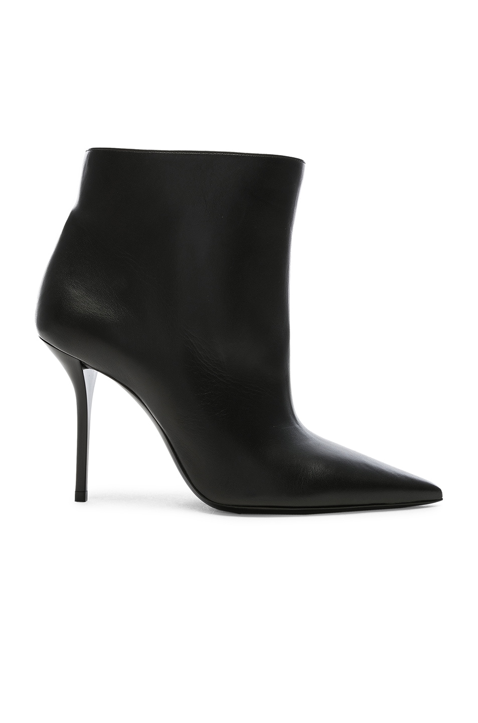Image 1 of Saint Laurent Leather Pierre Stiletto Ankle Boots in Black