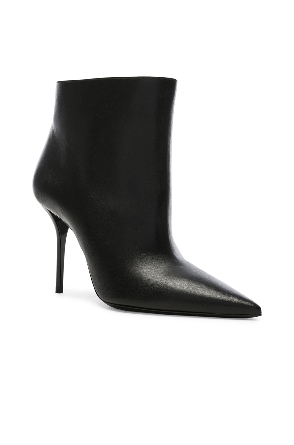 Image 2 of Saint Laurent Leather Pierre Stiletto Ankle Boots in Black
