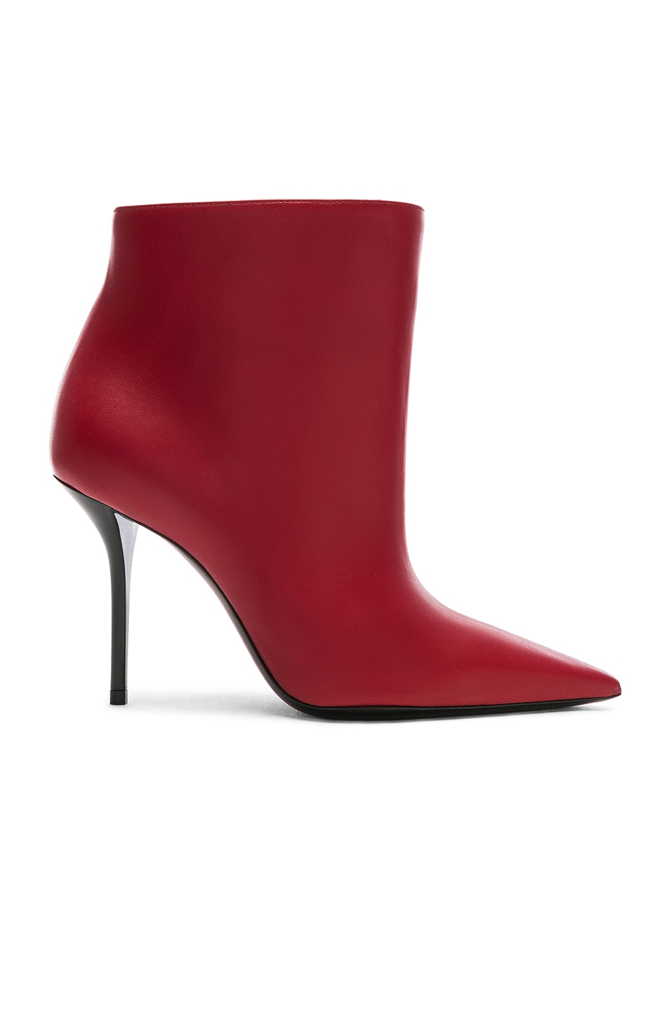 Image 1 of Saint Laurent Pierre Stiletto Ankle Boots in Eros Red