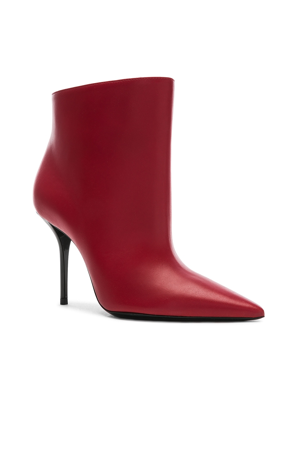 Image 2 of Saint Laurent Pierre Stiletto Ankle Boots in Eros Red