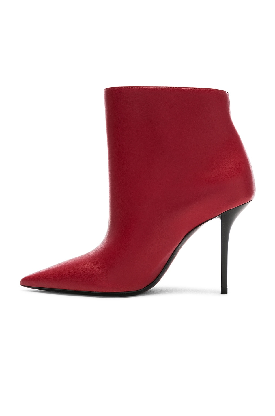 Image 5 of Saint Laurent Pierre Stiletto Ankle Boots in Eros Red