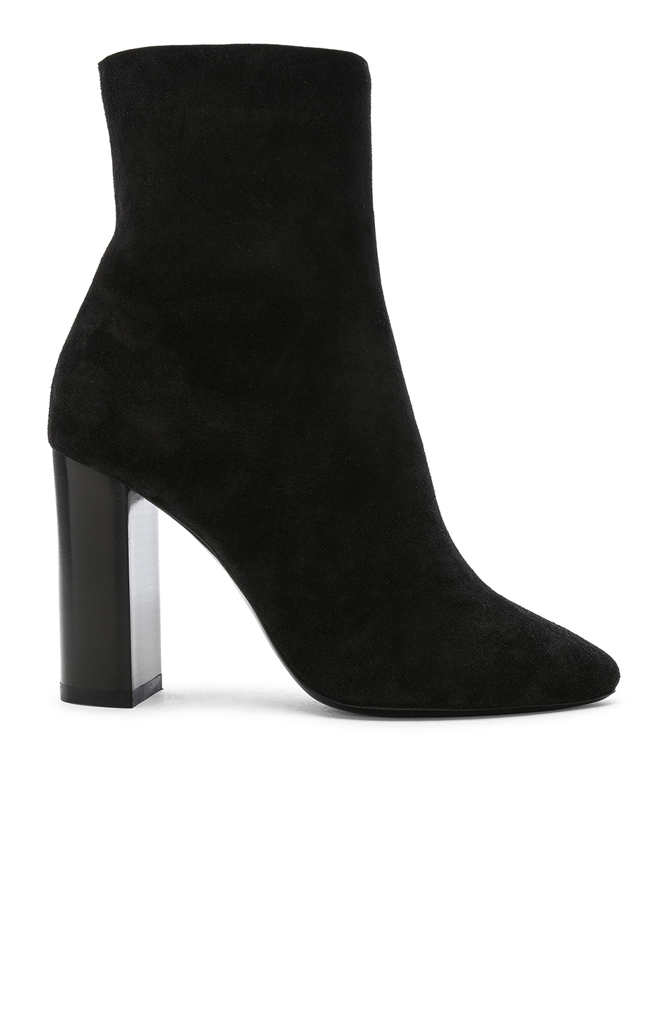 Image 1 of Saint Laurent Suede Lou Ankle Boots in Black